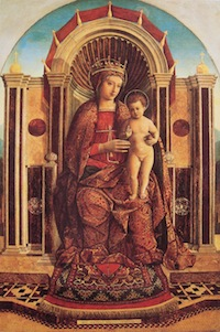 Gentile Bellini - Madonna and Child Enthroned